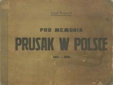 Pro Memoria. Prusak w Polsce (1915-1918). 20 autolitografij Józefa Rapackiego