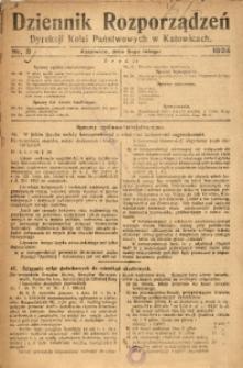 Dziennik Rozporządzeń Dyrekcji Kolei Państwowych w Katowicach, 1924, Nr. 8