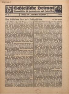 Schlesische Heimat. Monatsblätter für Heimatfreunde und Heimatstolz, 1936, nr 4