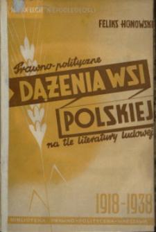 Prawno-polityczne dążenia wsi polskiej na tle literatury ludowej. Rok 1918-1939