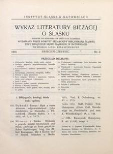 Wykaz Literatury Bieżącej o Śląsku, 1935, R. 1, nr 2