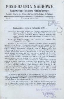 Posiedzenia Naukowe Państwowego Instytutu Geologicznego, 1930, nr 25