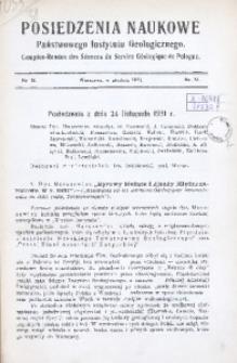 Posiedzenia Naukowe Państwowego Instytutu Geologicznego, 1931, nr 31