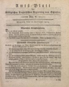 Amts-Blatt der Königlichen Liegnitzschen Regierung von Schlesien, 1813, Jg. 3, No. 7