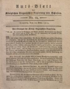 Amts-Blatt der Königlichen Liegnitzschen Regierung von Schlesien, 1813, Jg. 3, No. 12