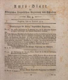 Amts-Blatt der Königlichen Liegnitzschen Regierung von Schlesien, 1814, Jg. 4, No. 4