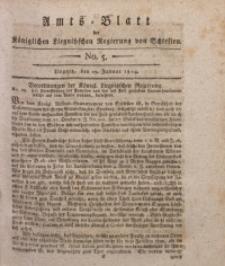 Amts-Blatt der Königlichen Liegnitzschen Regierung von Schlesien, 1814, Jg. 4, No. 5