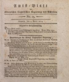 Amts-Blatt der Königlichen Liegnitzschen Regierung von Schlesien, 1814, Jg. 4, No. 15