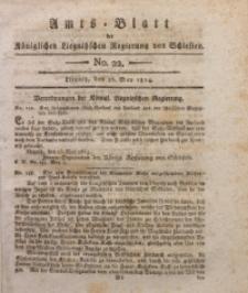Amts-Blatt der Königlichen Liegnitzschen Regierung von Schlesien, 1814, Jg. 4, No. 22