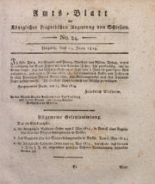 Amts-Blatt der Königlichen Liegnitzschen Regierung von Schlesien, 1814, Jg. 4, No. 24
