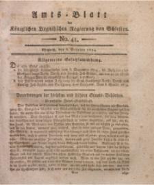 Amts-Blatt der Königlichen Liegnitzschen Regierung von Schlesien, 1814, Jg. 4, No. 41