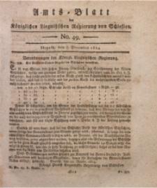Amts-Blatt der Königlichen Liegnitzschen Regierung von Schlesien, 1814, Jg. 4, No. 49