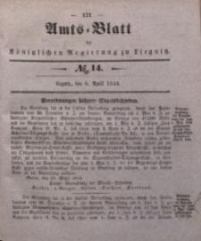 Amts-Blatt der Königlichen Regierung zu Liegnitz, 1844, Jg. 34, No 14