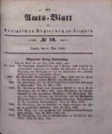 Amts-Blatt der Königlichen Regierung zu Liegnitz, 1844, Jg. 34, No 18