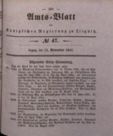 Amts-Blatt der Königlichen Regierung zu Liegnitz, 1844, Jg. 34, No 47