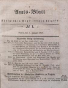 Amts-Blatt der Königlichen Regierung zu Liegnitz, 1846, Jg. 36, No 1