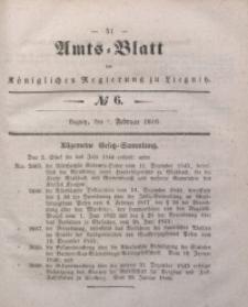 Amts-Blatt der Königlichen Regierung zu Liegnitz, 1846, Jg. 36, No 6
