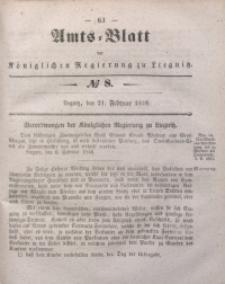 Amts-Blatt der Königlichen Regierung zu Liegnitz, 1846, Jg. 36, No 8