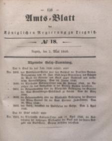 Amts-Blatt der Königlichen Regierung zu Liegnitz, 1846, Jg. 36, No 18