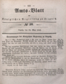 Amts-Blatt der Königlichen Regierung zu Liegnitz, 1846, Jg. 36, No 20