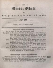 Amts-Blatt der Königlichen Regierung zu Liegnitz, 1846, Jg. 36, No 40