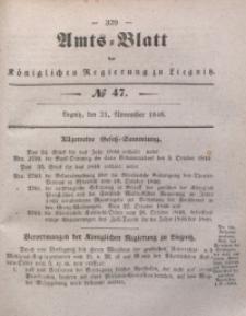 Amts-Blatt der Königlichen Regierung zu Liegnitz, 1846, Jg. 36, No 47