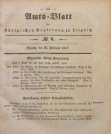Amts-Blatt der Königlichen Regierung zu Liegnitz, 1847, Jg. 37, No 8
