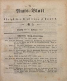 Amts-Blatt der Königlichen Regierung zu Liegnitz, 1847, Jg. 37, No 9