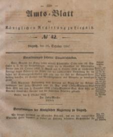 Amts-Blatt der Königlichen Regierung zu Liegnitz, 1847, Jg. 37, No 42