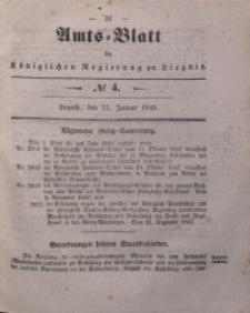 Amts-Blatt der Königlichen Regierung zu Liegnitz, 1848, Jg. 38, No 4