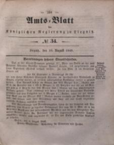 Amts-Blatt der Königlichen Regierung zu Liegnitz, 1848, Jg. 38, No 34