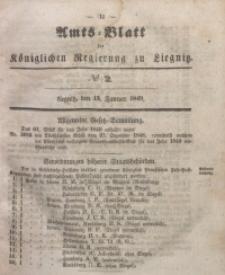 Amts-Blatt der Königlichen Regierung zu Liegnitz, 1849, Jg. 39, No 2