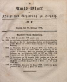 Amts-Blatt der Königlichen Regierung zu Liegnitz, 1849, Jg. 39, No 7