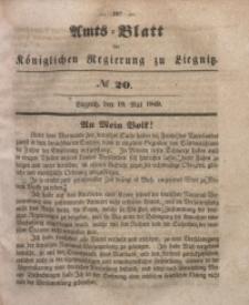Amts-Blatt der Königlichen Regierung zu Liegnitz, 1849, Jg. 39, No 20
