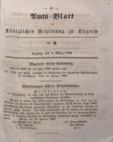 Amts-Blatt der Königlichen Regierung zu Liegnitz, 1850, Jg. 40, No 9