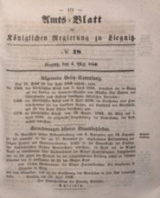 Amts-Blatt der Königlichen Regierung zu Liegnitz, 1850, Jg. 40, No 18
