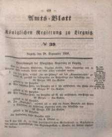 Amts-Blatt der Königlichen Regierung zu Liegnitz, 1850, Jg. 40, No 39