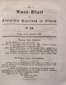 Amts-Blatt der Königlichen Regierung zu Liegnitz, 1850, Jg. 40, No 44