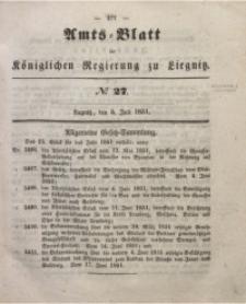 Amts-Blatt der Königlichen Regierung zu Liegnitz, 1851, Jg. 41, No 27