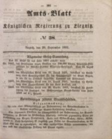 Amts-Blatt der Königlichen Regierung zu Liegnitz, 1851, Jg. 41, No 38