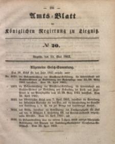 Amts-Blatt der Königlichen Regierung zu Liegnitz, 1852, Jg. 42, No 20