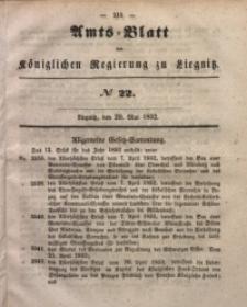 Amts-Blatt der Königlichen Regierung zu Liegnitz, 1852, Jg. 42, No 22