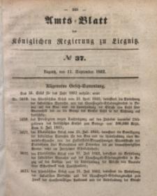 Amts-Blatt der Königlichen Regierung zu Liegnitz, 1852, Jg. 42, No 37