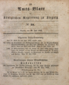 Amts-Blatt der Königlichen Regierung zu Liegnitz, 1853, Jg. 43, No 31