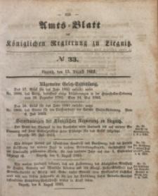 Amts-Blatt der Königlichen Regierung zu Liegnitz, 1853, Jg. 43, No 33
