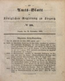 Amts-Blatt der Königlichen Regierung zu Liegnitz, 1853, Jg. 43, No 39
