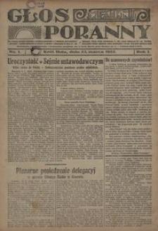 Głos Poranny, 1922, R. 1, nr 1