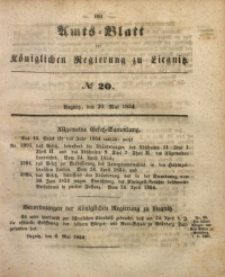 Amts-Blatt der Königlichen Regierung zu Liegnitz, 1854, Jg. 44, No 20