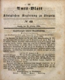 Amts-Blatt der Königlichen Regierung zu Liegnitz, 1854, Jg. 44, No 43