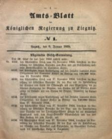 Amts-Blatt der Königlichen Regierung zu Liegnitz, 1855, Jg. 45, No 1